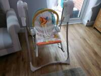 Self rocking baby swing with melody Fisher Price