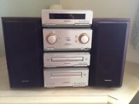 Technics CD Radio and Tape Player With Speakers and Remote Control