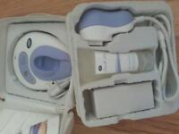 BRAND NEW HAIR LASER REMOVER TREATMENT COMES IN WHITE LEATHER CASE BOOTS