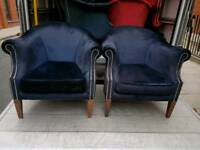 Chairs - Quality Extra Comfy Dark Blue Fabric