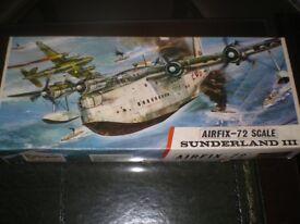 Airfix Air Fix 1/72 scale Sunderland 111 series 6 model kit plane