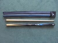 YOUTH SIZE (48inches) TWO Piece Power Glide Snooker Cue Endorsed by JOHN PARROTT