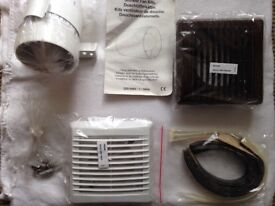 Newlec 100mm in-line shower fan with timer unused