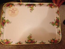 Royal Albert tray