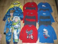 Large Bundle of boy Pyjamas and Character Onesie age 2-3 year old x14 items in good condition.