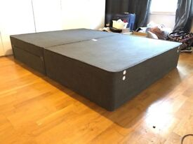 King size Divan bed base with draws