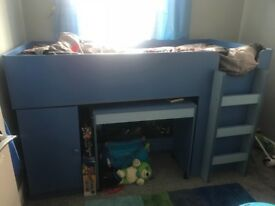 Very good condition blue cabin bed