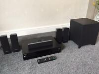 Sony BlueRay Player with 5.1 Surround Sound and Subwoofer