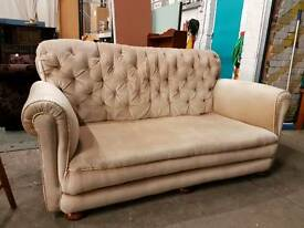 Beautiful button back 2 seater fabric sofa