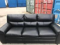 Stunning. Literally. New. 3+2Black leather. Sofa
