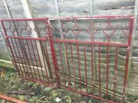 Metal Driveway Gates / Steel / Iron Double Garden Gates ring malc