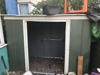 Free metal storage shed