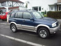 suzuki grand vitara 2.0 petrol 16v in blue and silver
