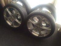 Wolfrace 205/40/17 multi fit wheels £120