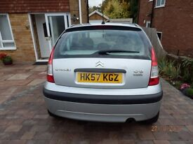 CITROEN C3 COOL HDI DIESEL CAR 2007 57 PLATE MOT SEPT 2017 JUST £30 ROAD TAX SILVER 5 DOOR HATCHBACK