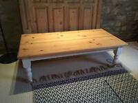 Large wooden coffee table chalk paint