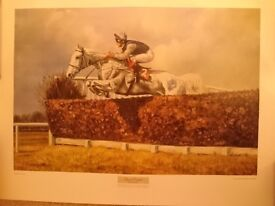 Horseracing print Desert Orchid 1989 limited edition