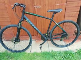 Carrera Crossfire Mountain Bicycle with double disc brakes