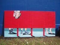 Original acrylic large painting modern bright unframed