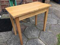 Muji small oak desk