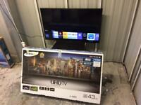 "Samsung 43"" 4k Ultra HD Smart led tv ue43ju6000"