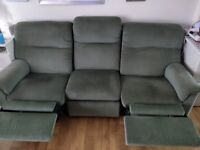 Parker Knolls 3 Seater Recliner sofa & 2 chairs