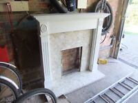 Fireplace Surround with marble composite inner & hearth