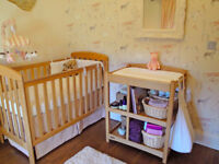 Oak changing table by Mamas & Papas