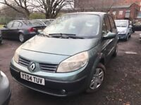 04 plate - Renault scenic 1.6 petrol - Automatic - 8 months mot- 5 Door - 3 former keepers