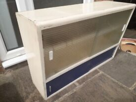 VINTAGE RETRO 1970s Cabinet with original glass Very good Condition
