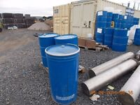 215 ltr steel oil drums, they did have light transformer oil/ inside them and