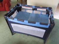 TWO TIER TRAVEL COT - BASICALLY BRAND NEW - £30.00. THURLBY, BOURNE, LINCS.