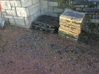 Free uplift patio slabs and garden chips