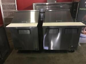 27 and 36 true salad topping prep fridges ( rare sizes ) like new ! Only $995 save$$ shipping avaiable in Canada