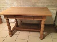 Rustic heavy Light Oak oblong Table