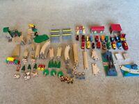 Brio and Brio Compatable Train Set over 130 pieces