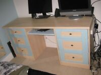 Bedroom Dressing Table and Drawers or Office Desk with slide-out shelf.
