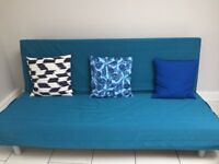 4 piece set of sofa-bed, armchair and coffee table