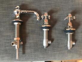 Three hole Volevatch Bidet taps set