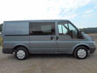 FINANCE ME!! NO VAT!! Stunning Ford transit swb 6 seat crew van with 95k from new,Full Mot!!
