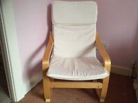 Children's IKEA Poang Chair in birch veneer in immaculate condition