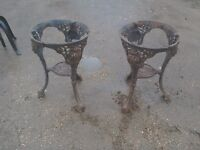A pair of old pub tables