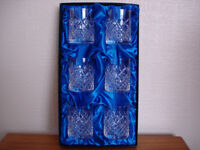Bohemia Crystal Whisky Glasses by Henry Marchant