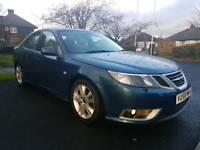 2008 58 REG SAAB 9-3 AERO TTID 180 BHP. HIGH SPEC, AUTOMATIC, HPI CLEAR, LEATHER, NAVIGATION, CLEAN