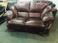As new quality 3 and 2 leather sofas