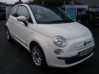 FIAT 5OOC CONVERTIBLE *POWER HOOD* DEPOSIT £295- 48 X £119.51 (10.8%)