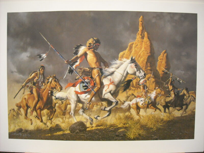 Frank McCarthy Navajo Ponies for Comanche Warriors Signed Edition Art Print