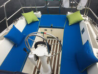 Upholstery for boats, caravans, camper vans, horse boxes, garden furniture, window seats, curtains.