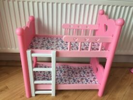 Bunk beds for dolls