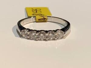 #182 HALLMARKED 18K/PLATINUM DIAMOND BAND .80 CTW *SIZE 9 3/4* APPRAISED FOR $4850 SELLING FOR $1595